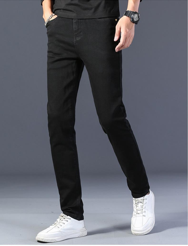 Jeans da uomo Stretch Tight Pants Slim Fit Pantaloni da uomo Pantaloni da uomo indossato Piedi da uomo Lavato con jeans casual no ks
