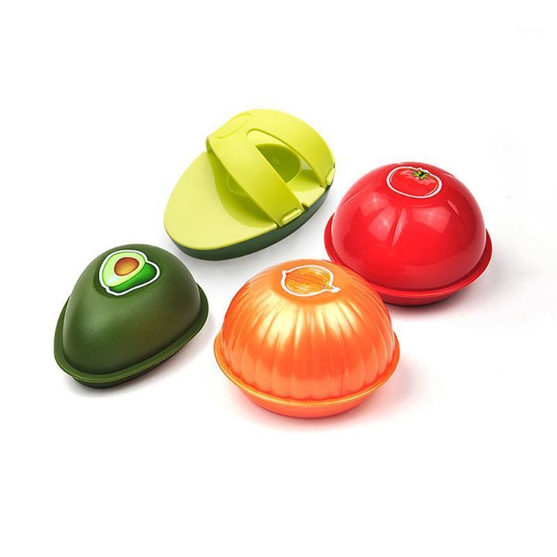 1 шт. Свежее хранение коробки авокадо чеснок пластиковый овощной фруктовый контейнеры кухонный холодильник организатор хранения CAS1