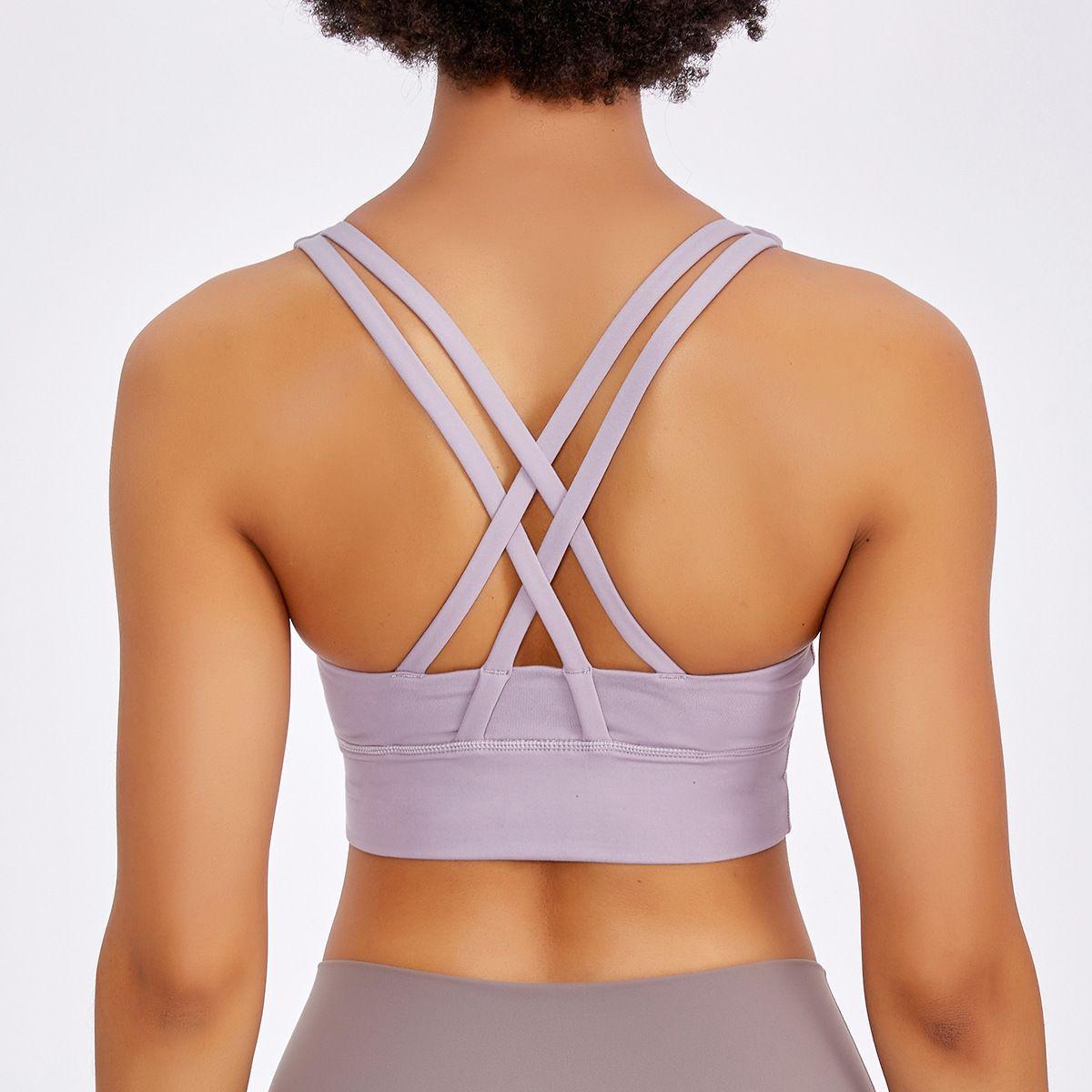 2020 Новое Нижнее белье Женщины LULU Multi Brap Cross Back Ударопрочный Спортивный Бюстгальтер Yoga