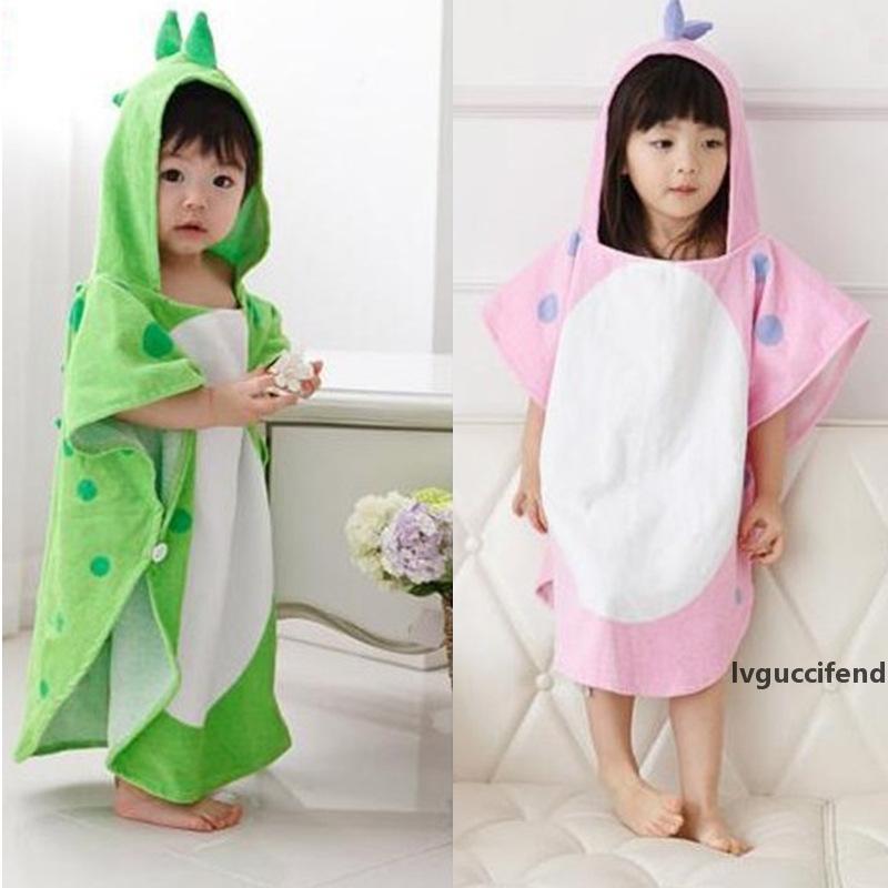 Pur coton avec capuche bébé Serviette de bain Cape, bébé Absorbent peignoir, enfants de bain Serviette, peignoir, Dinosaur New Blanket
