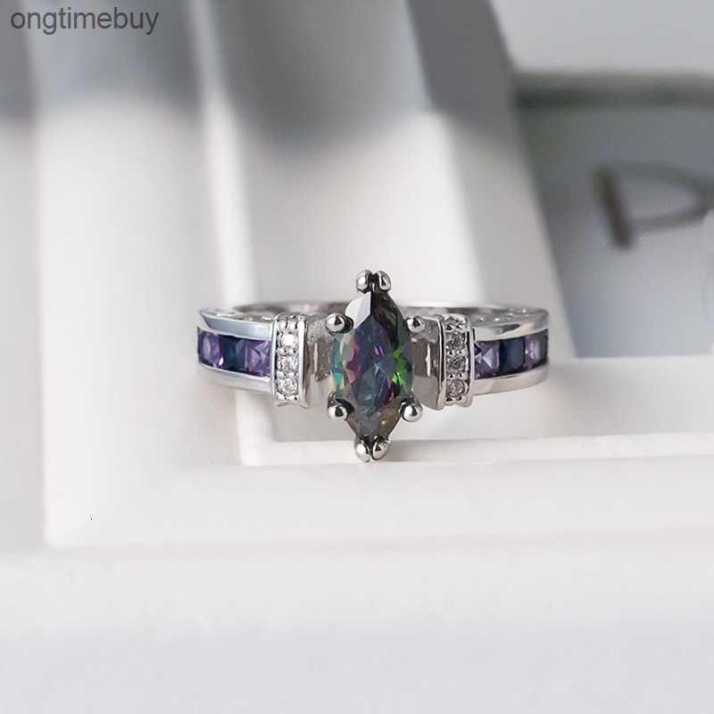 Factoryp27awith Bellissimi accessori colorati anello zircone ovale