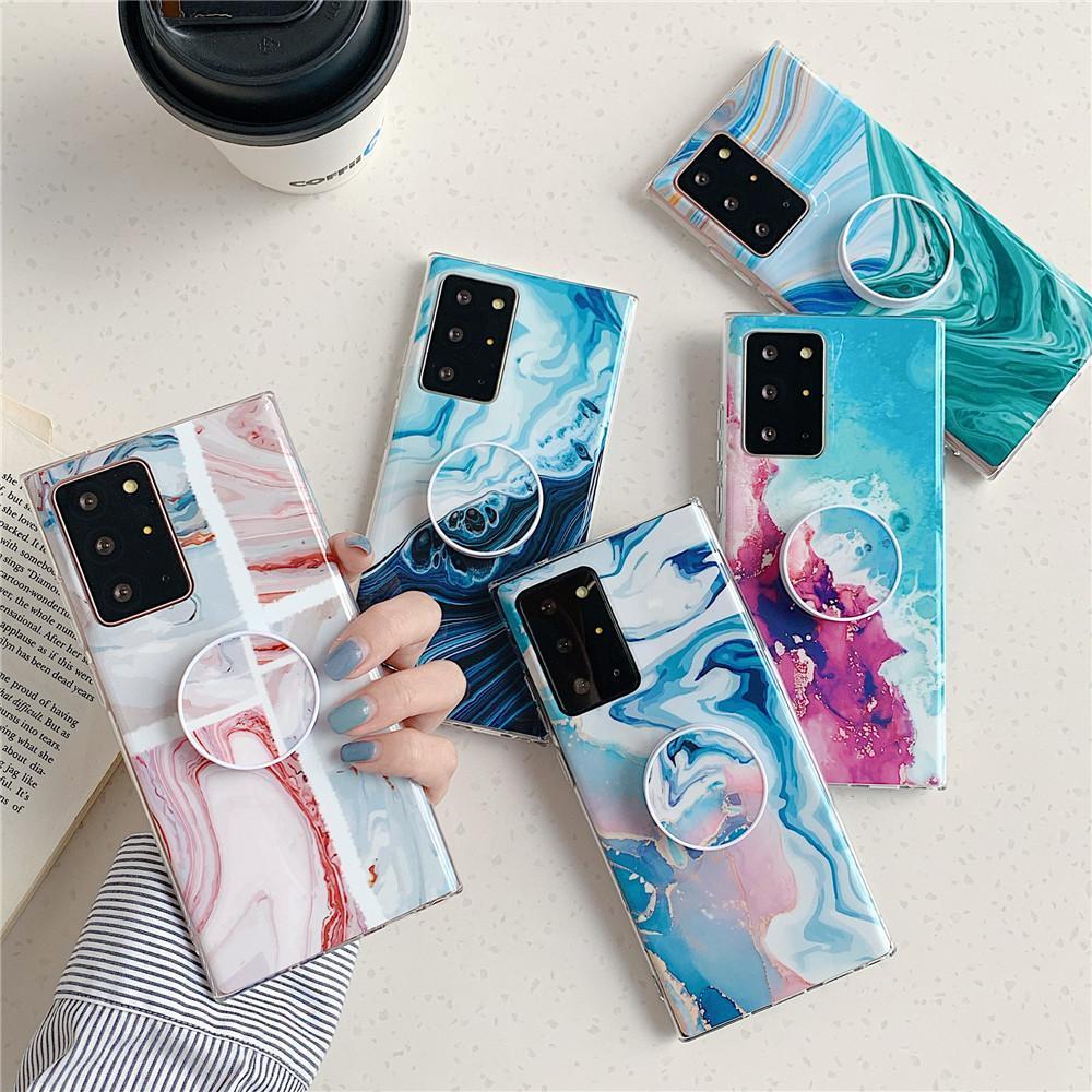 Caso Marble telefone com suporte para Samsung Nota 20 Ultra A51 A71 A30 A31 5g A21s S20 S10 S9 S8 Além disso A70 wmtltJ gpackbag