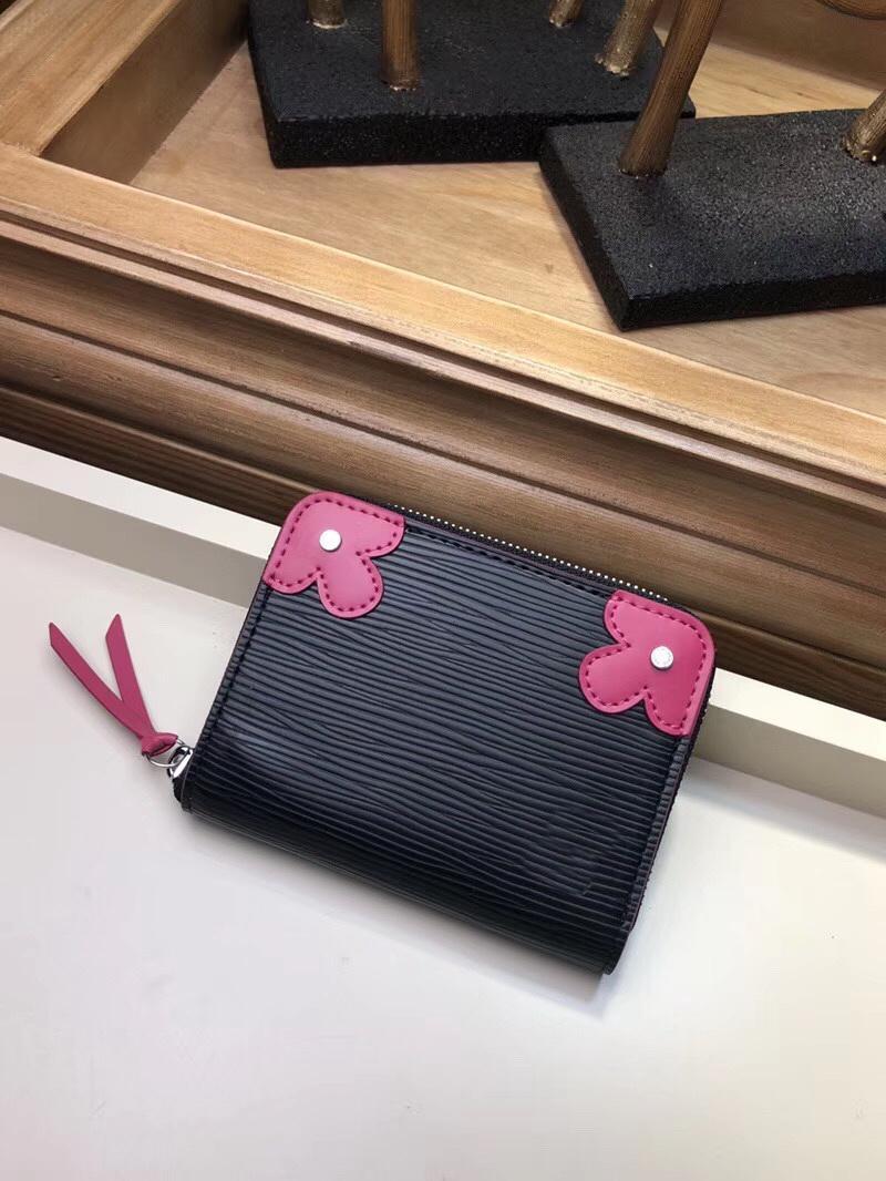 Bolso venta caliente moda mini monedero monedero monedero estilo con cuero genuino para diseñador billetera polvo mujer caja de diseño-nuevo csmdb