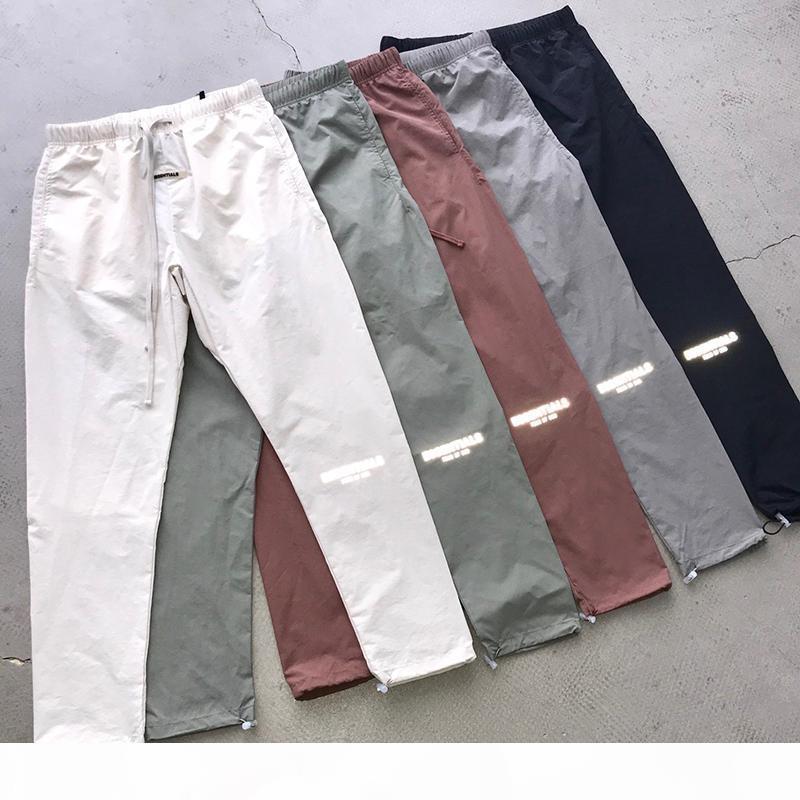 Paura dell'Essenza di God Sweatspants Nebbia Color Color Reflective Logo Casual Light Pants Pantaloni da uomo e da donna Hip-Hop streetwear --- versione di alta qualità
