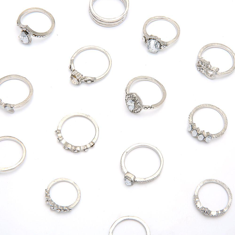 Bagues en pierre acrylique branchée pour femmes hommes anniversaire bijoux ouverts argent couleur cristal plante bague fille doigt bijoux