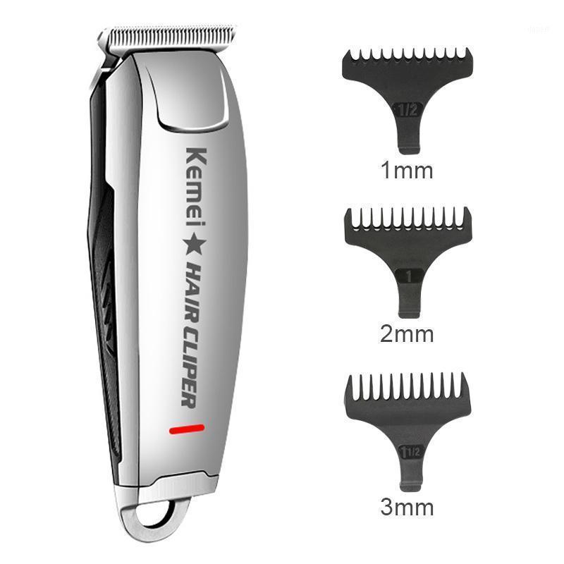 Kemei KM-2812 Professional Coup de cheveux électrique Vintage Gravure de cheveux Outils de coiffure de cheveux sans fil Rechargeable Coup de cheveux Shaver 45D1