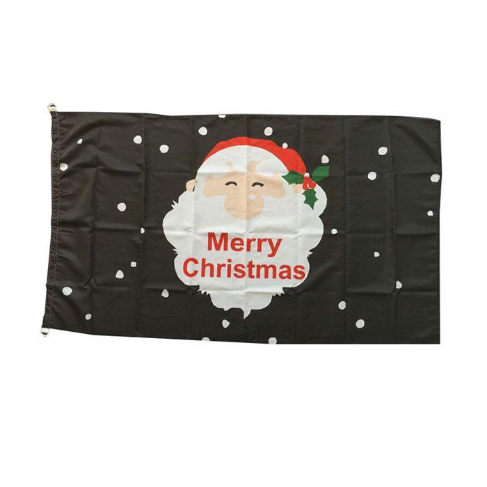 Glückliche Weihnachtsfahnen Frohe Weihnachten Banner Dekoration 3x5 ft Banner 90x150cm Festival Party Geschenk 100D Polyester Gedruckt Heißer Verkauf!