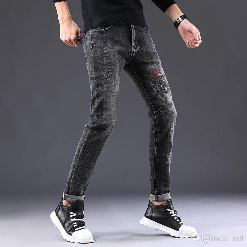 Der neue europäische und amerikanische Windmann Stretch Füße Jeans Stickerei günstige Kirin, die Moral-Hosen kultivieren, 882