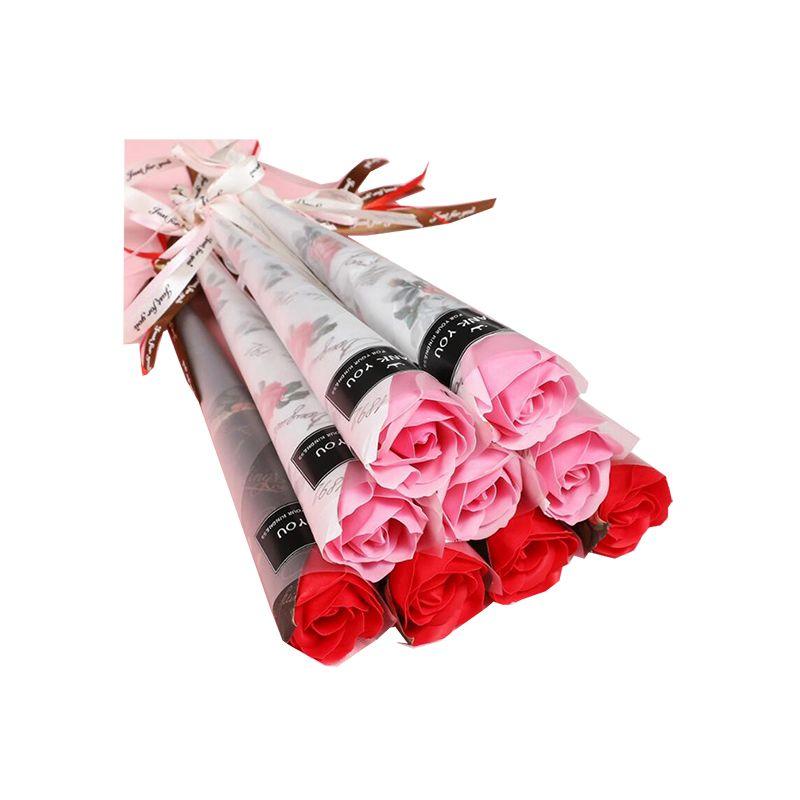 가정 장식에 대한 인공 카네이션 로즈 비누 꽃 해바라기 꽃 향기로운 필수 결혼 발렌타인 데이 선물 장식