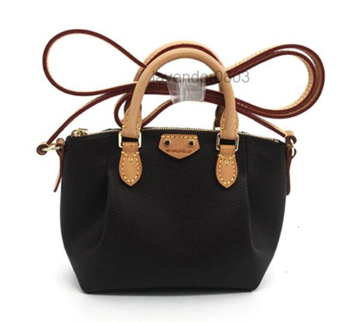 Grade Brown Top Genuine Leather Lady Handbag Nano mini M61253 Women Fashion Shoulder Bag Messenger Oxidization