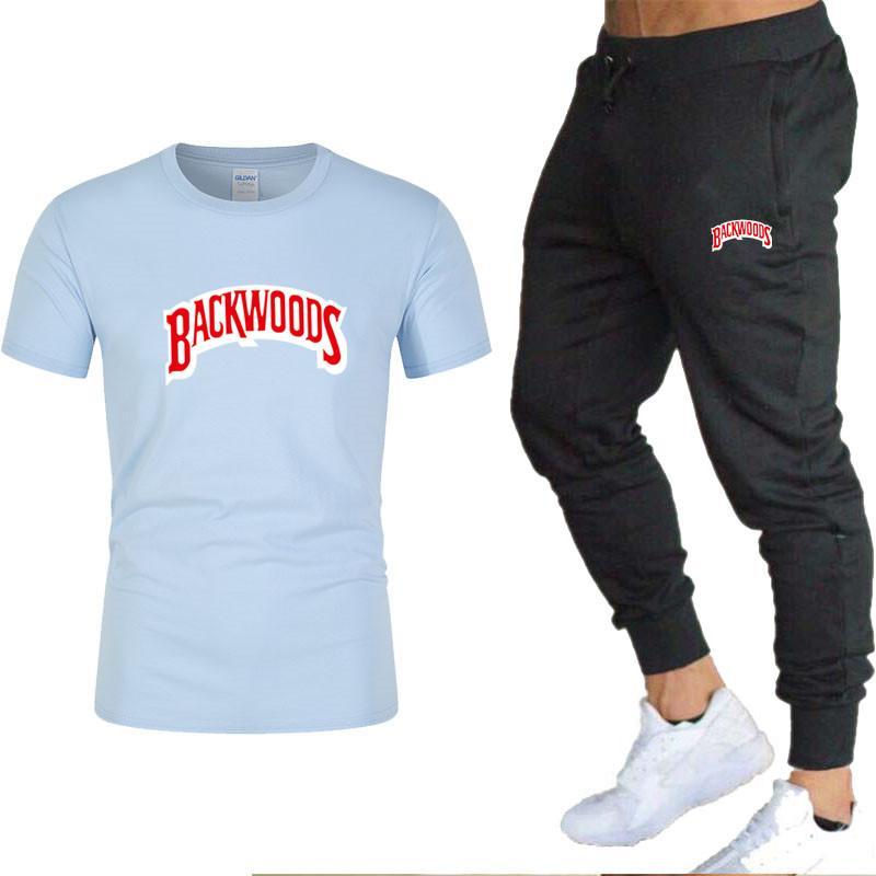 T-shirt et pantalon de 2020 hommes ensembles de deux pièces Southern Snake Imprimé Casual Tracksuit Sports Sports Pantalon de remise en forme