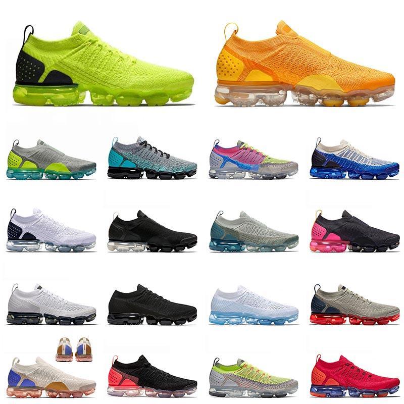 nike flyknit air vapormax moc 2.0 Run Run 2021 Top Quality Sport Fly Moc 2 Malha Correndo Sapatos Volt University Gold AirVaporAirmax Homens Mulheres Treinadores Sneakers 36-45