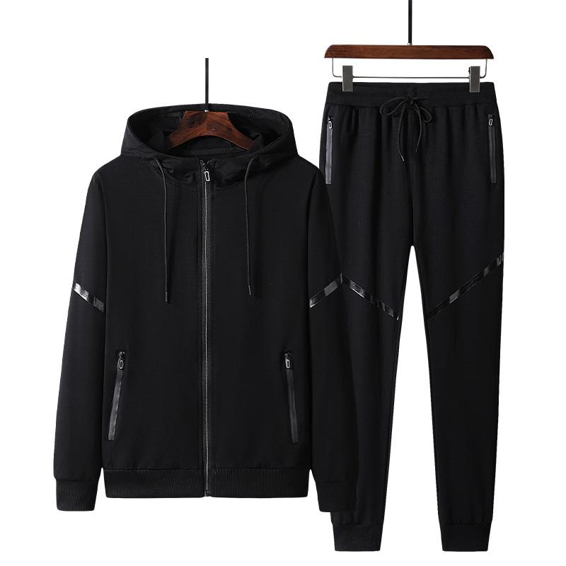 Men's suit spring and autumn new cotton sports men's cardigan trousers two-piece middle-aged elderly suit leisure