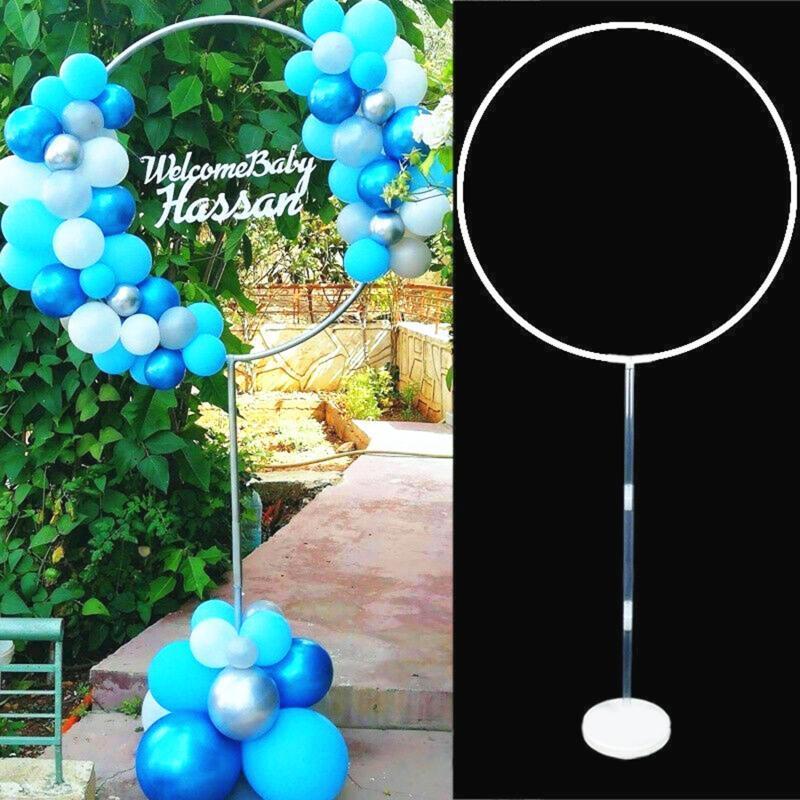 Runder Ballon Stand Bogen Ballons Kranz Ring für Hochzeitsdekoration Baby Shower Kinder Geburtstagsfeiern Weihnachten Ballon Girlande