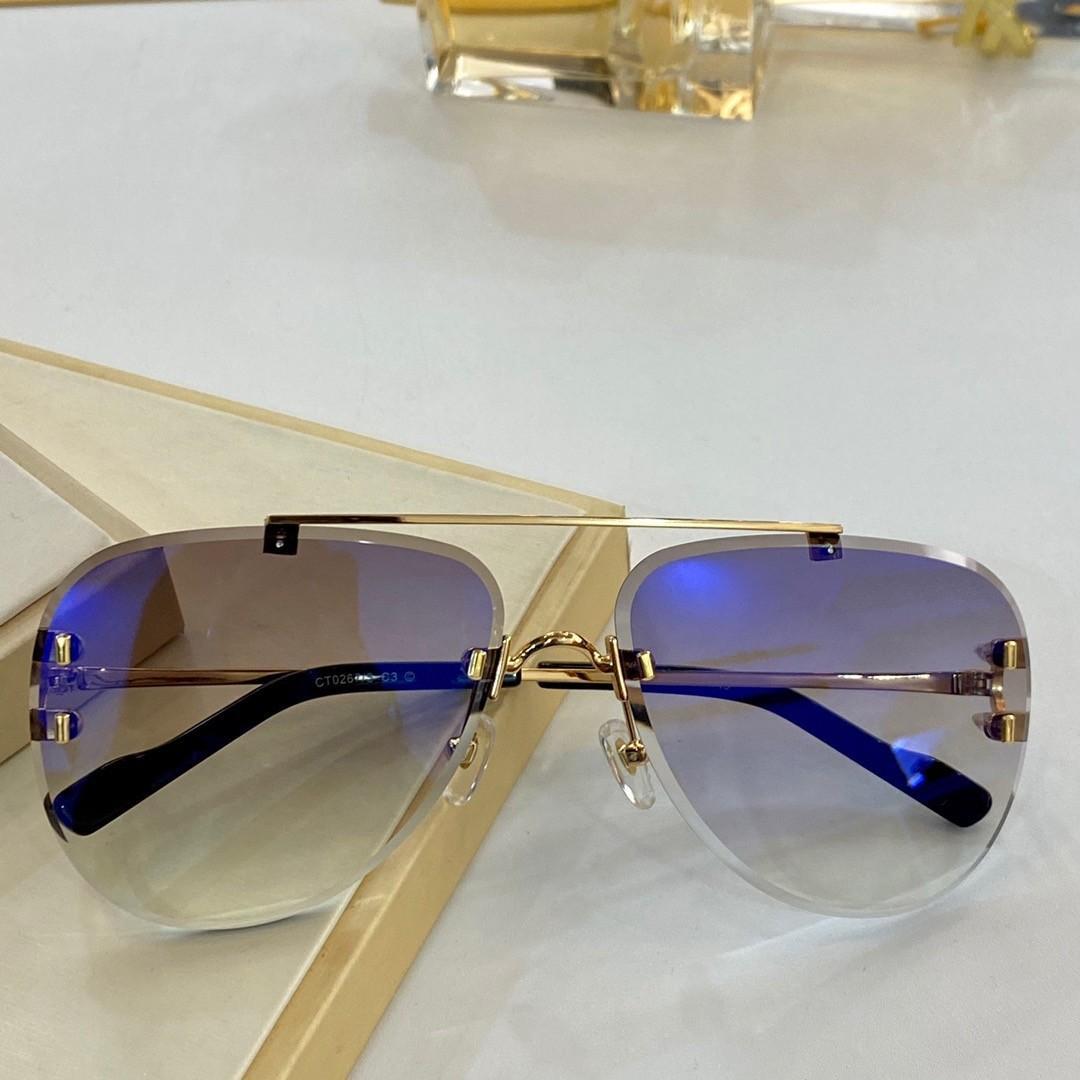 Erkek Güneş Gözlüğü Kadınlar Için 0267 Erkekler Güneş Gözlükleri Bayan Moda Stil Gözleri Koruyucular UV400 Lens Kılıfı Ile En Kaliteli