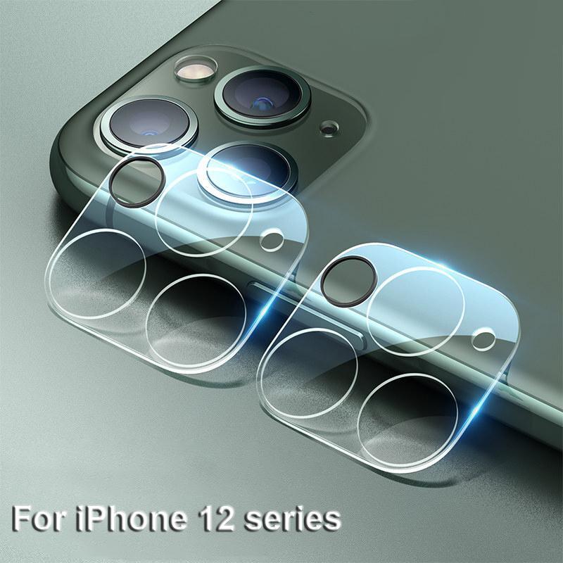 Geri Kamera Lens Koruyucu Tam Kapak temperli cam Film iPhone 12 Pro Max Mini 11 Ekran Koruyucu ile Flaş Çember