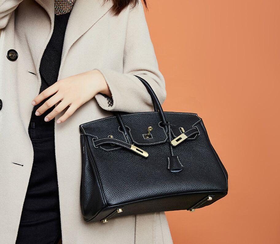 Nuevo Calidad Genuine Top Platinum Bag Bolso de hombro Moda Casual Bolsa de compras Bolso Tote Mujeres Ninguna marca Cuero de vaca QS08 Qefsi