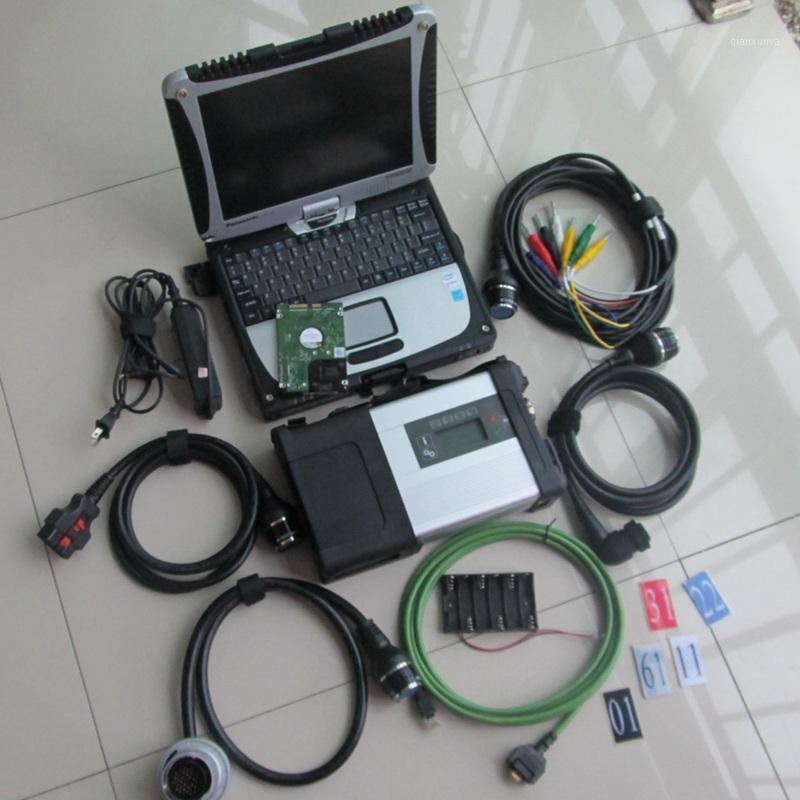 Super MB Estrela C5 SD Conecte-se com laptop CF19 Toughbook Rotate PC Diagnóstico instalado com Último Softwar MB SD V2020.05 HDD1