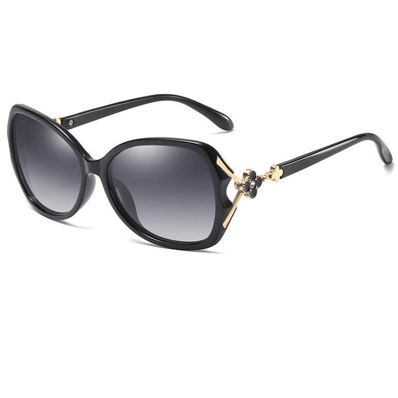 Verschönerung UV-Glases Blume Polarisierte Sonnenbrille Schutzfrau 400 Lens Sun Womens für Mode Occhiali da Sole Xtuig