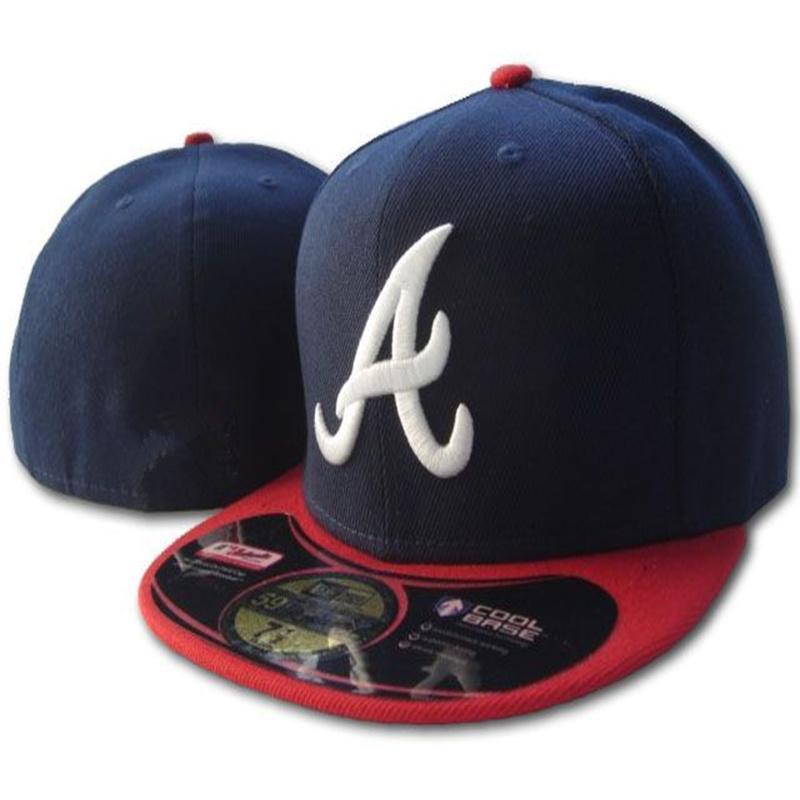 Nuovo design cappelli aderenti Sunhat Atlanta Cappello Cappello Team Baseball Ricamato Team Plat Brim Hats Baseball Size Cap Brands Sport Chapeu