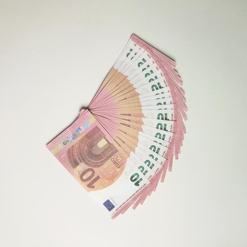 Faux Paper Money Prop 10 20 50 100 200 500 20 100 Euro Nouveau 100 Dollars 50 livres Bills Prix Note 12 Banque