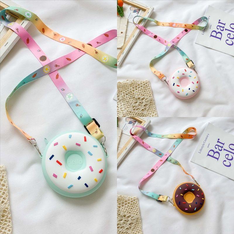 FRNBT Umhängetaschen Crossbody Bag Mode Nette Oxidize Leder Handtasche Donuts Kinder Messenger Crossbody Mini Tasche Frauen Tasche Handtaschen