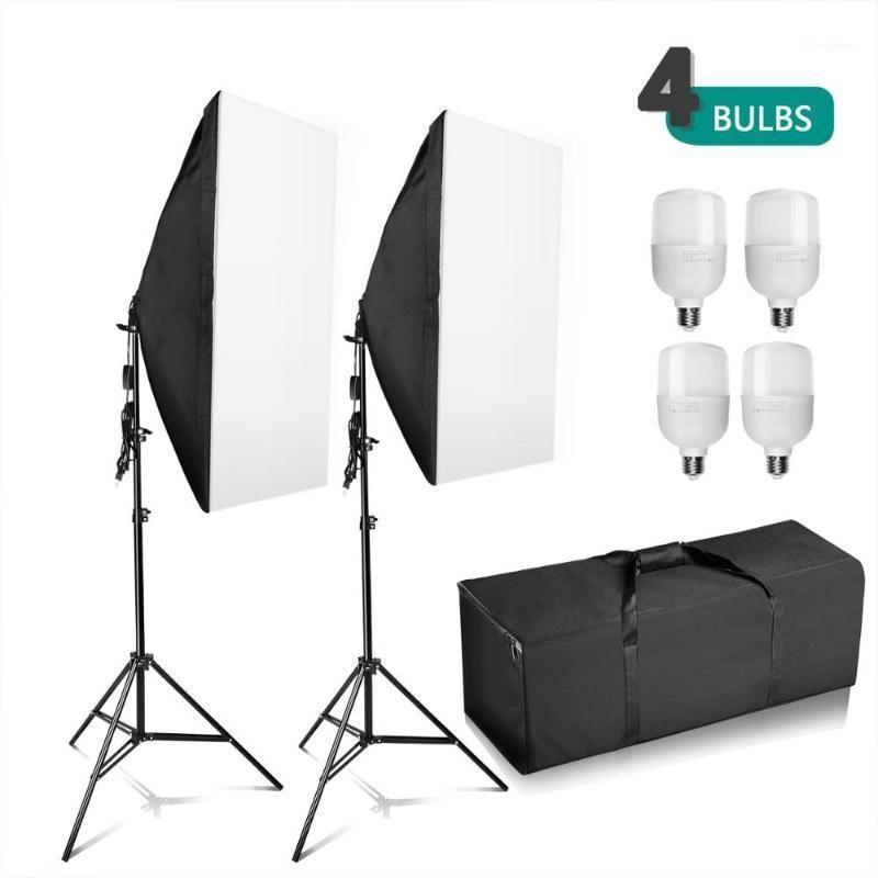 Zuchien Fotografie Studio 4x 25W LED-Softbox Beleuchtungsständer Kit Foto Video Light Set1