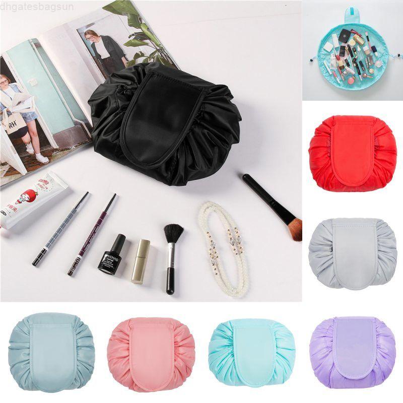 Lazy Drawstring Wash Storage Travel Cosmetic Pouch Maquillaje Organizador Bolso de aseo 11 Colores
