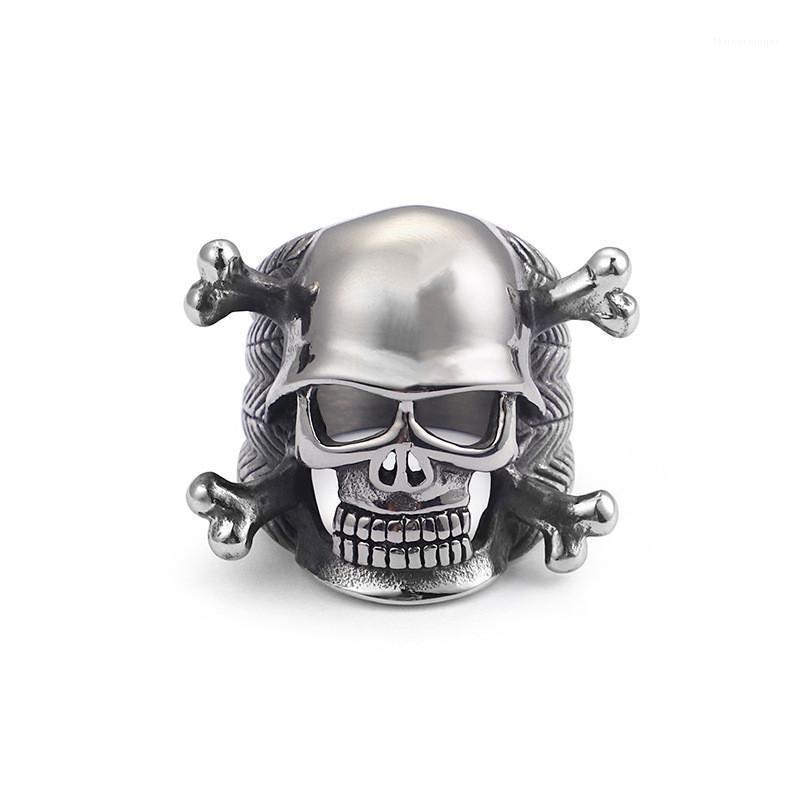 Skull Bagues, Bague en acier inoxydable 316L pour Warrior Punk Rock, Biker Mens Bijoux1