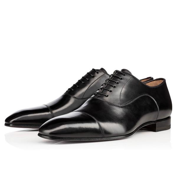 Sıcak Satış Yeni Erkek Loafer'lar Ayakkabı Kırmızı Dipleri Siyah Beyaz Kahverengi Bred Süet Patent Deri Perçinler Glitter Moda Elbise Düğün İş