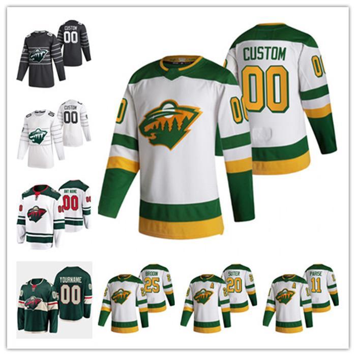 Zach Parise Minnesota Wild 2021 Retro Retro Cam Talbot Ryan Suter Devan Dubnyk Galchenyuk Johansson Bonino Fiala Kaprizov Hockey Jersey