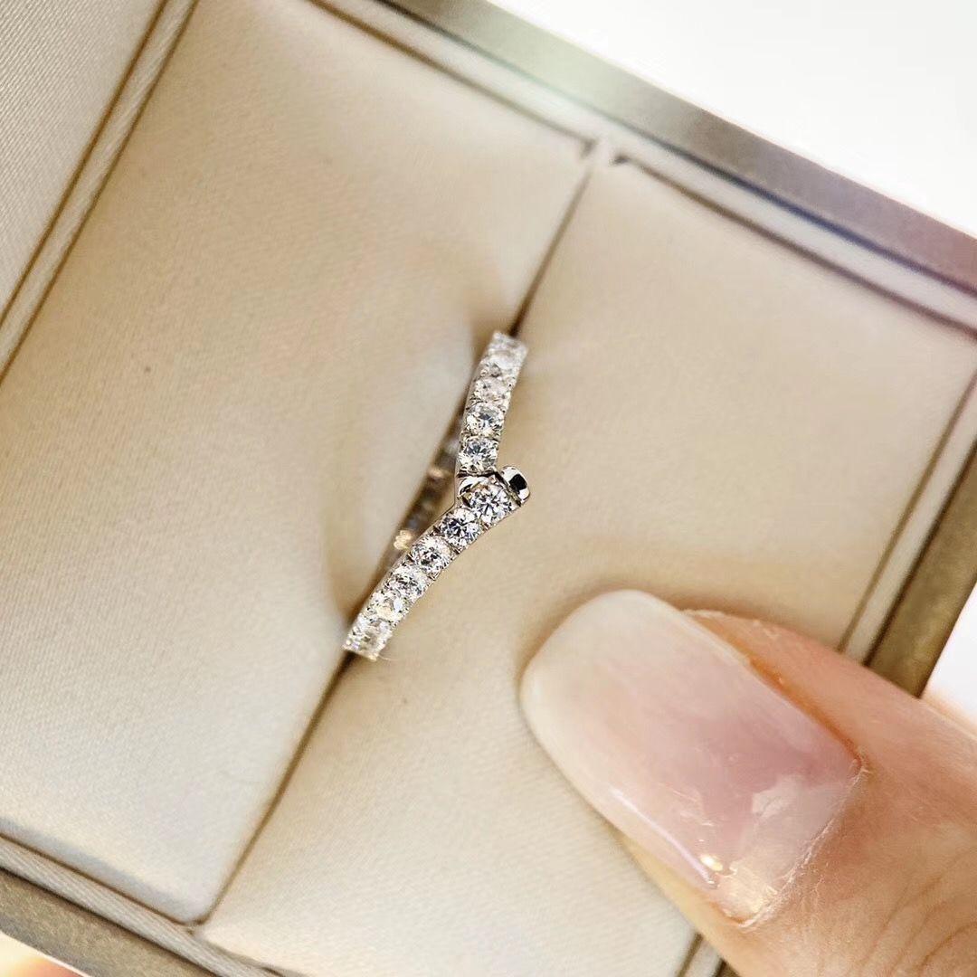 Tüm Sparky elmas cazibesi yüzük takı yılbaşı günü takı hediye ücretsiz kargo PS6407 ile lüks kalite şerit bant halkası