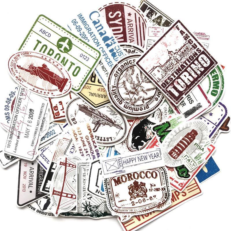 60 шт. / Установка штамп наклейка Историческое здание Почтовые наклейки Postmary для DIY багажа ноутбук Travel Case Guitar холодильник