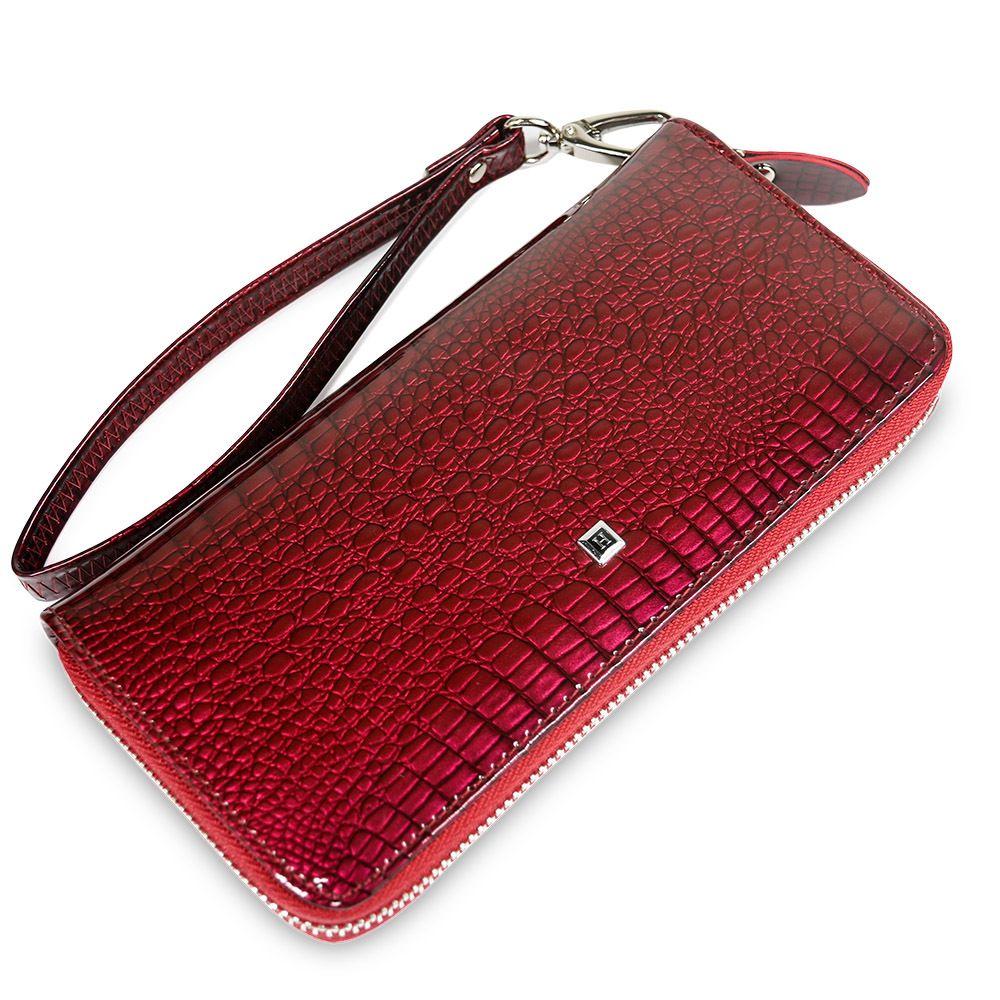 Telefon Kartları Sikke Çantalar C1115 için Beth Kedi Kadın Uzun Fermuar Cüzdan Gerçek Deri Timsah Bayanlar Çanta Bileklik Cüzdan Debriyaj