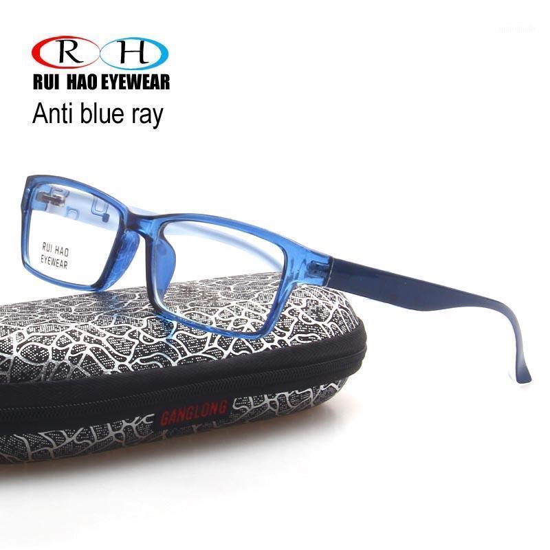 Очистить анти-голубые лучевые очки мужчины женщины прямоугольники очки очки очки кадр унисекс очки четкие читающие очки 90171