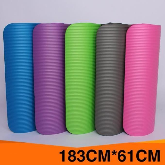 Femmes extra épaisses Tapis de yoga d'exercice anti-déchirures haute densité pour Pilates NBR Non-Slip sans goût en plastique femmes enceintes Tapis de yoga