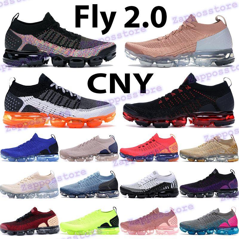 Fly 2.0 Мужчины Женщины Беговые Обувь Манго Red Orbit Черное Многоцветное Розовое Золото CNY Гонщик Синий Свет Сливки Мужские кроссовки Тренеры