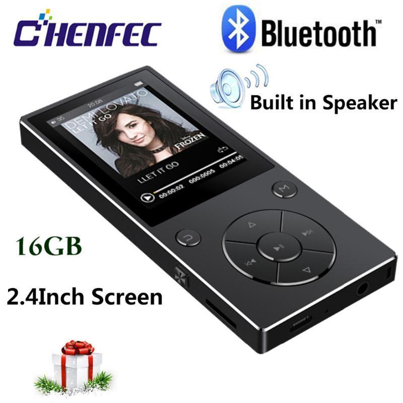 MP3-плеер Bluetooth4.2 Динамик 16 ГБ Портативный Hifi Музыкальный проигрыватель, Walkman с FM, запись, Mini USB TF Card до 128 ГБ