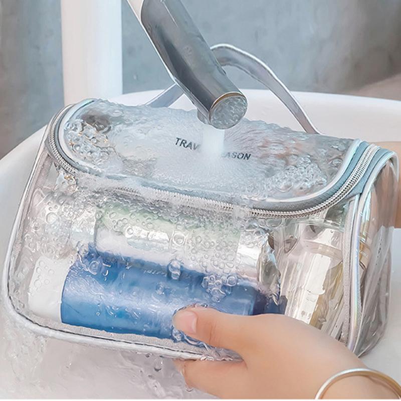Mode Transparent Voyage Organisateur Maquillage Sac clair Esthéticienne cosmétique Sac Beauty Case Toiletry Make Up Pouch sacs de lavage
