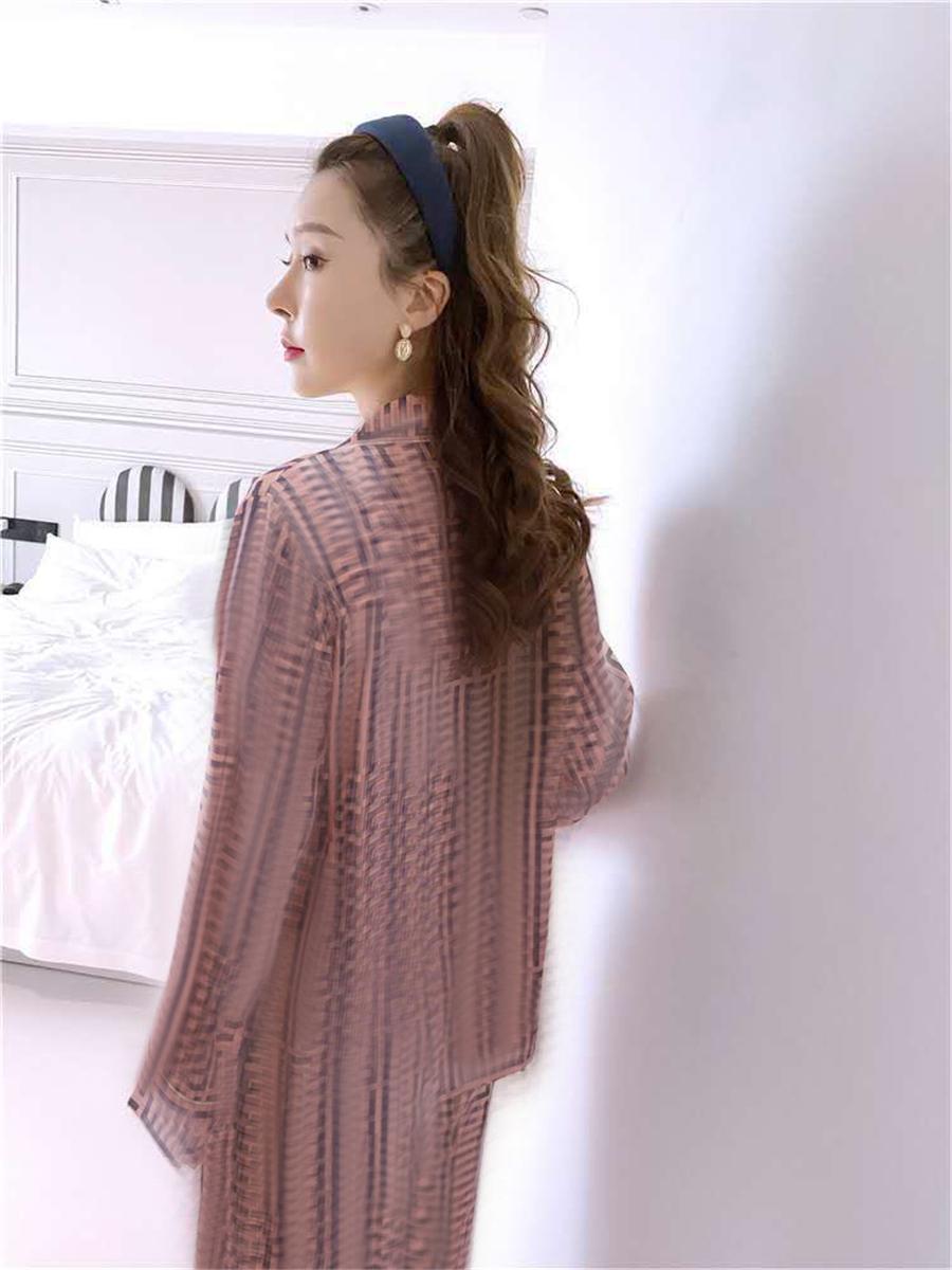 Ins, pyjamas Silk 2021 Nouveaux vêtements de nuit Wink Wink Wink Wink Women Women Women ome Pajamas Dener # 38 # 62600