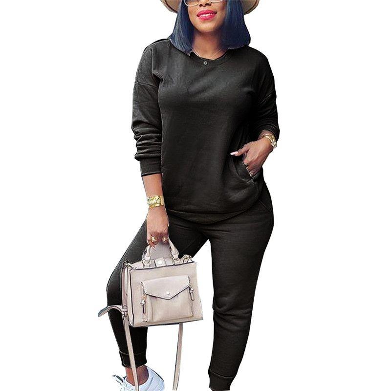 Женская спортивная одежда из двух частей набор спортивной рубашки спортивные брюки наряды с длинным рукавом рубашка брюки свитание пуловер колготки спортивная одежда Hot KLW5690