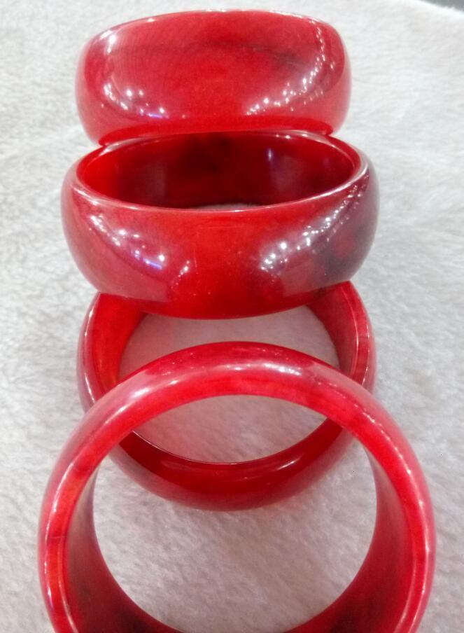 Chinesisches Armband Natural Bangle Red Jade 58-60mm 100% M0068