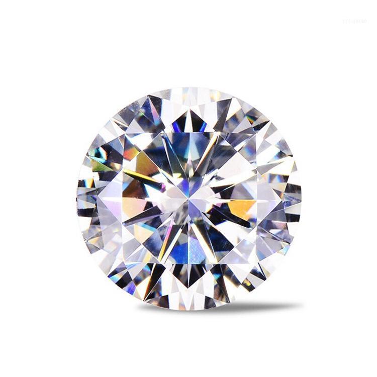 فضفاض الأحجار الكريمة مويسانيت الاصطناعي الماس D اللون العارية 0.5 / 0.6 / 30.8 / 1 قيراط مخصص K الذهب الزفاف ring11