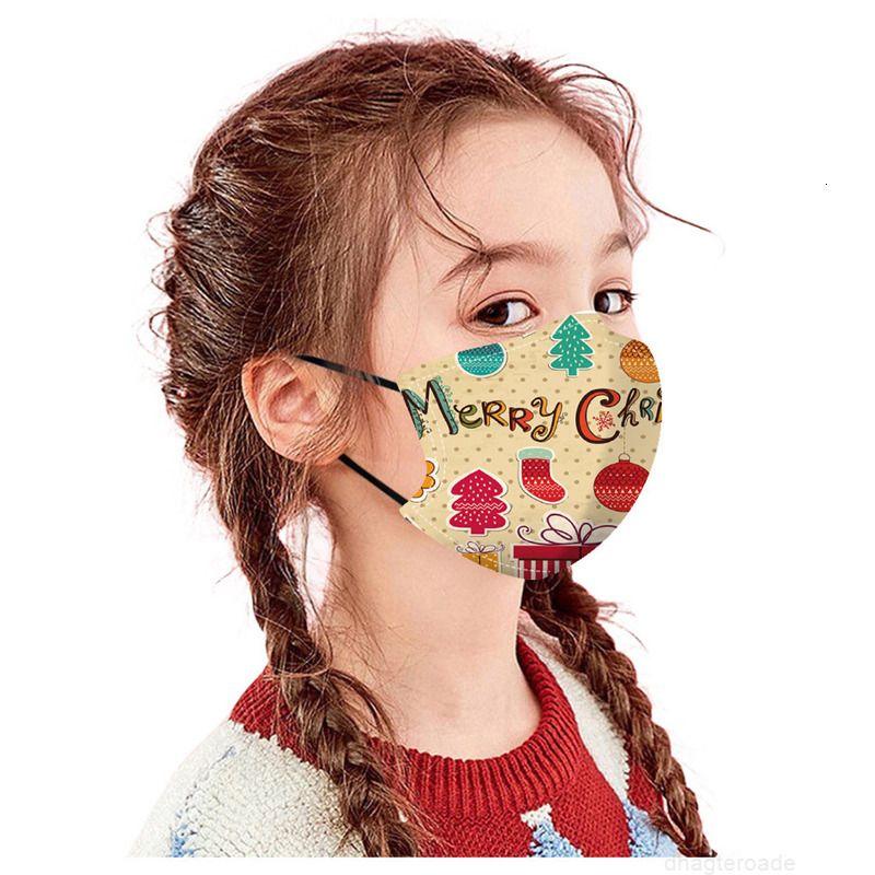 Amerikanische europäische DHL-Maske 50pcs und Party Kinder Schutzweihnachtsgesichtsmasken für Kinder waschbar einstellbar