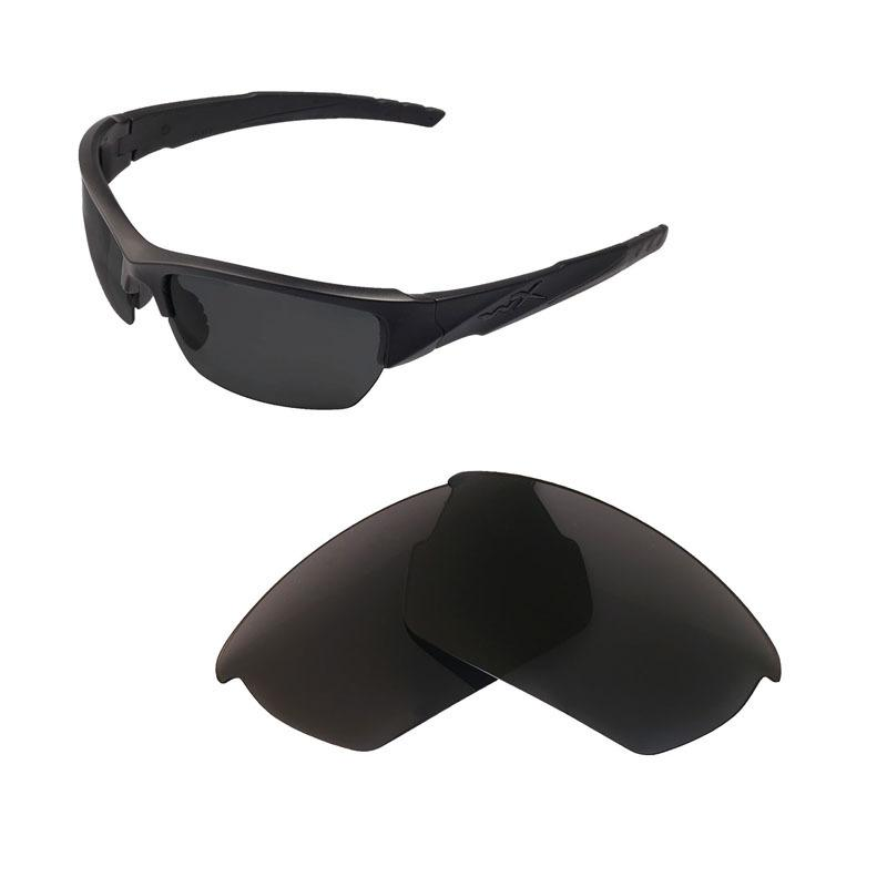 Lenti di ricambio polarizzate WALLEVA per gli occhiali da sole Wiley X Valor USA SPEDIZIONE