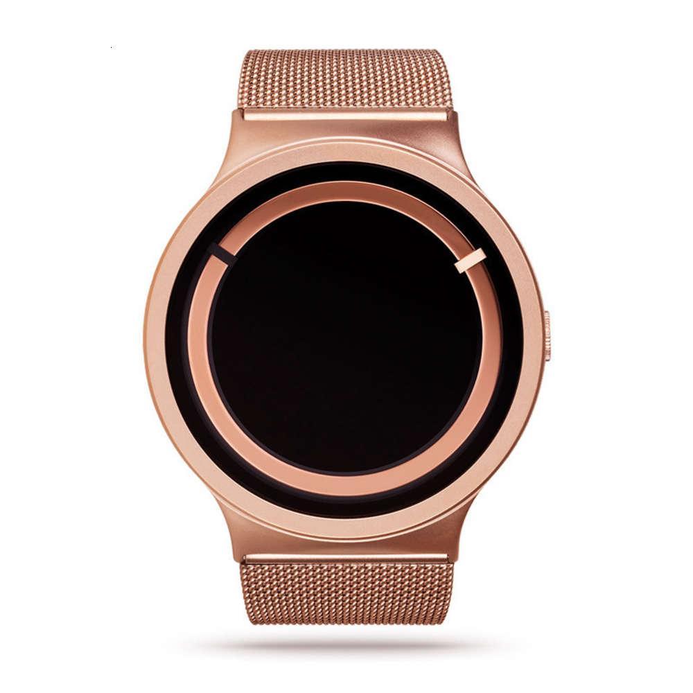 U0VI Fashion trend creative eclipse men's watch sale Stainless steel mesh band quartz watch
