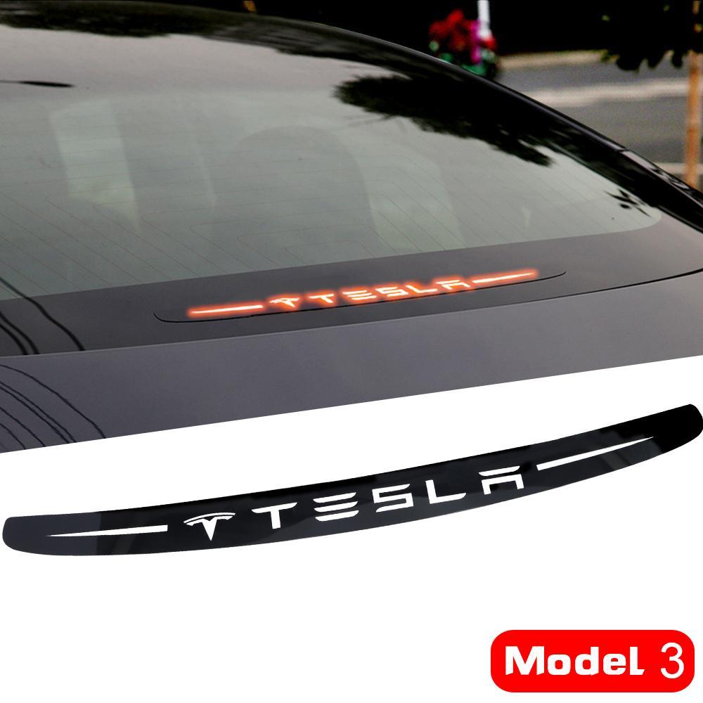 LQY سيارة ملصقا تعديل أضواء الفرامل الديكور تجميل ل Tesla نموذج 3 الملحقات