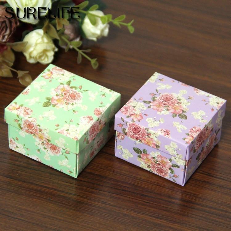 50 pcs papel de chocolate caixa de presente flor roxo para aniversário festa de casamento decoração artesanato diy favor bebê chuveiro h bbyhsz