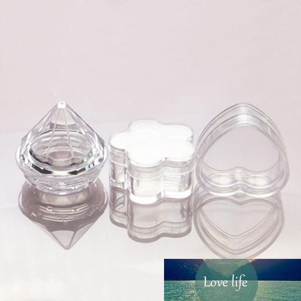 5 stücke 5g kleine klare kosmetische make-up tohre leer kunststoff probe jar art container lidschatten creme lippen balm container aufbewahrungsbox