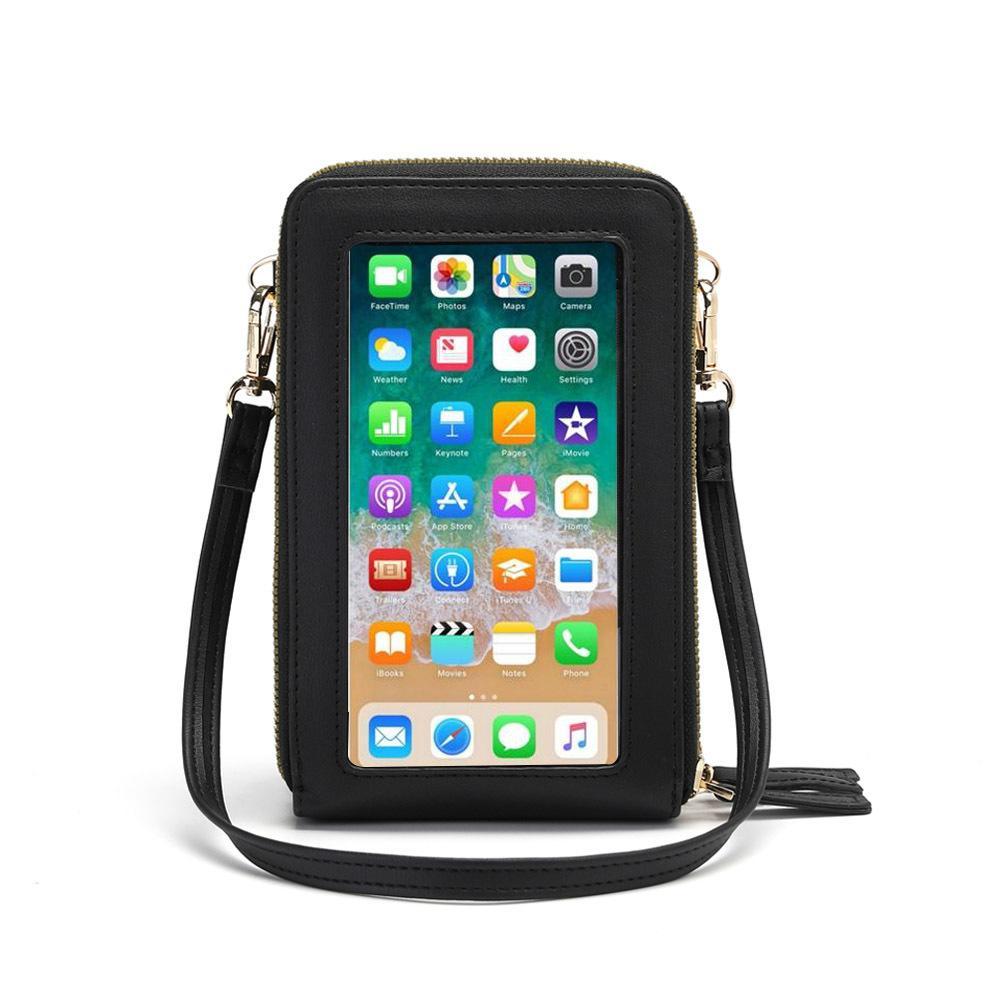 Schermo Drop Shipping Crossbody del cellulare borsa donne tocco Borsa Rfid Blocco Portafoglio Borsa spalla